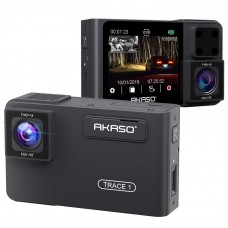 AKASO Trace 1Dual Dash Cam Front and Inside