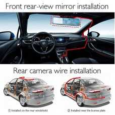 AKASO Mirror Dash Cam 1080P 5 Inch Touch Screen Dash Camera Front and Rear Dashcam with G-Sensor, Night Vision, Reversing Camera, Parking Monitor