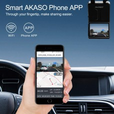 AKASO S6 Dash Cam Front and Rear,