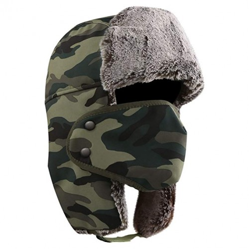 5343847a9 AKASO Winter Hat with Ear Flaps, Trooper Trapper Hat, Detachable ...