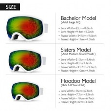AKASO Ski Goggles, Snowboard Goggles - Anti-Fog, 100% UV Protection, Double-Layer Spherical Lenses, Helmet Compatible Snow Goggles for Men, Women, Youth & Kids (Explore Oregon Special Edition).