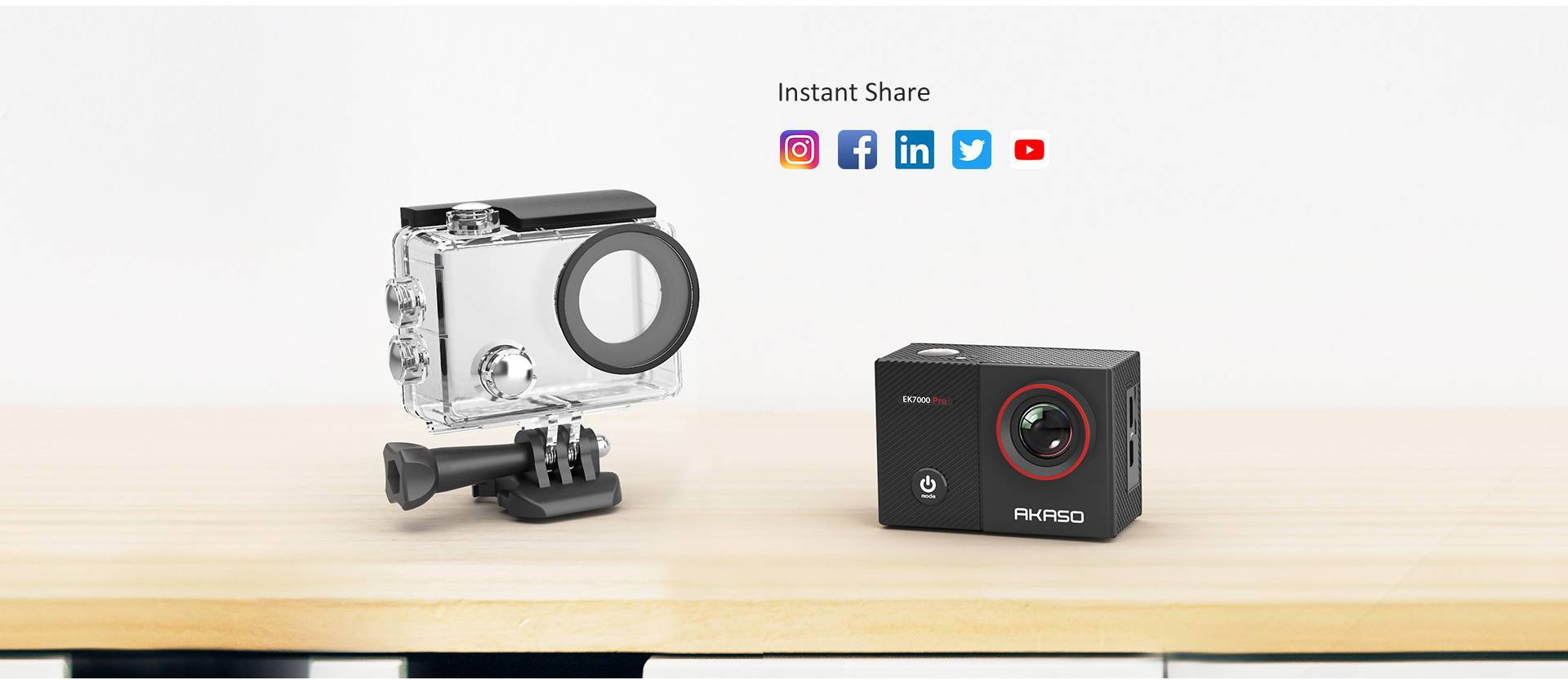 EK7000 Pro Wi-Fi Sports Action Camera