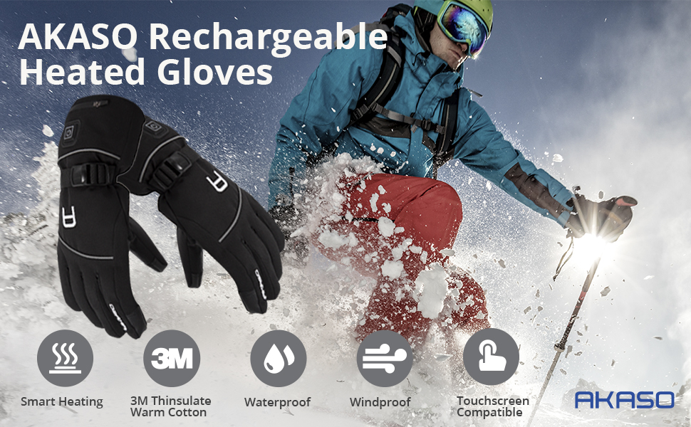 AKASO Heated Gloves