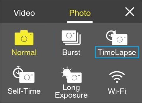 Time Lapse Mode