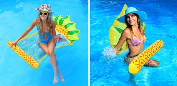 AKASO 2-Pack Pineapple Inflatable Pool Float