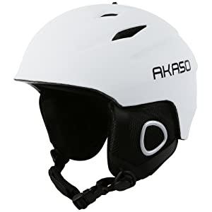 White Ski Helmet