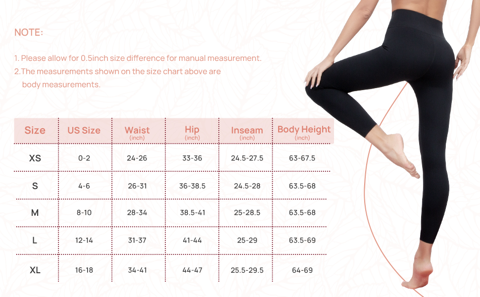 Yoga Pants Sizes